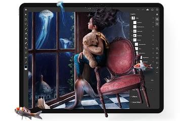 Tampilan Adobe Photoshop IPad