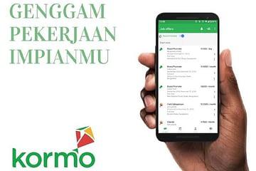 tampilan aplikasi kormo